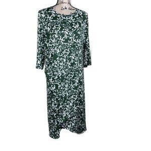 VKY & CO Olive Ivory Stretch Jersey Dress 1X